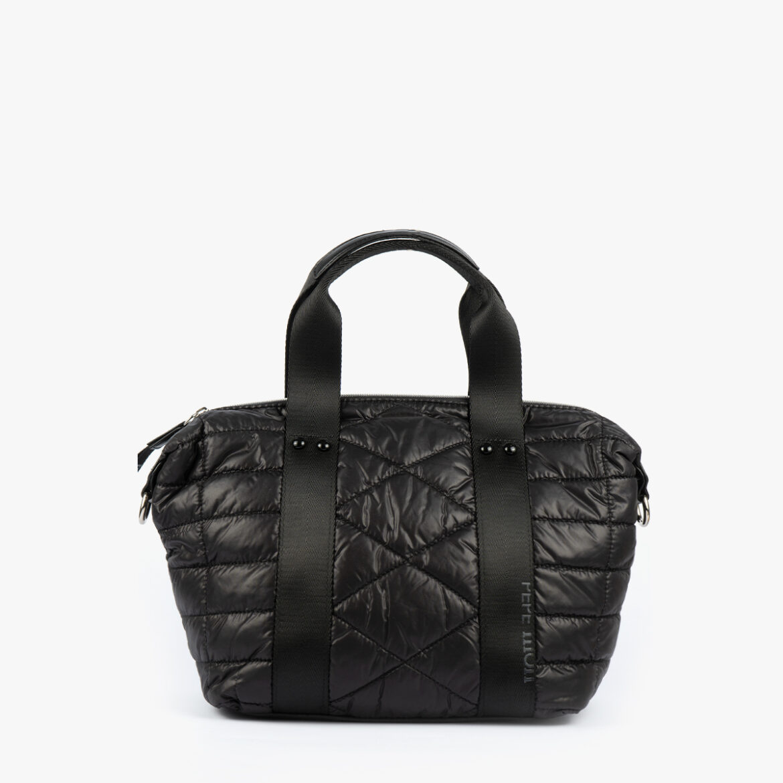 Bolso de mano negro 22135