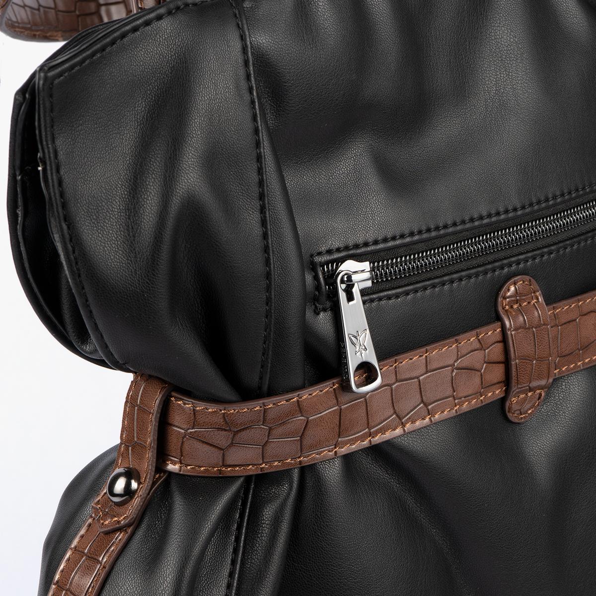 Bolso de hombro Negro 24134