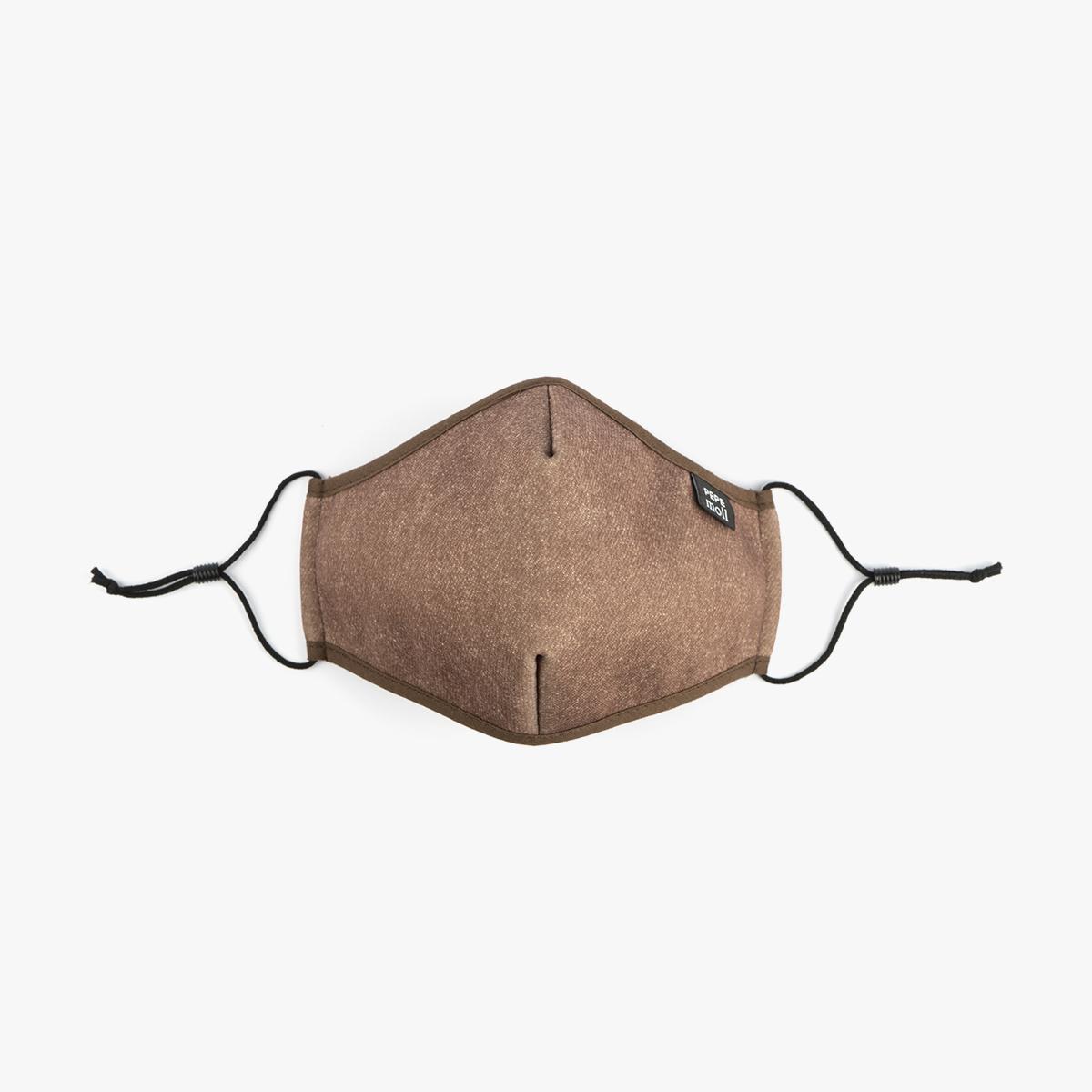 Mascarillas tejano marrón para niño y niño