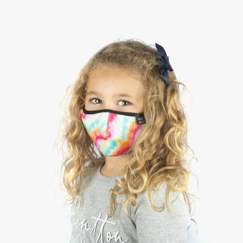 Mascarillas tie dye para niña y niño
