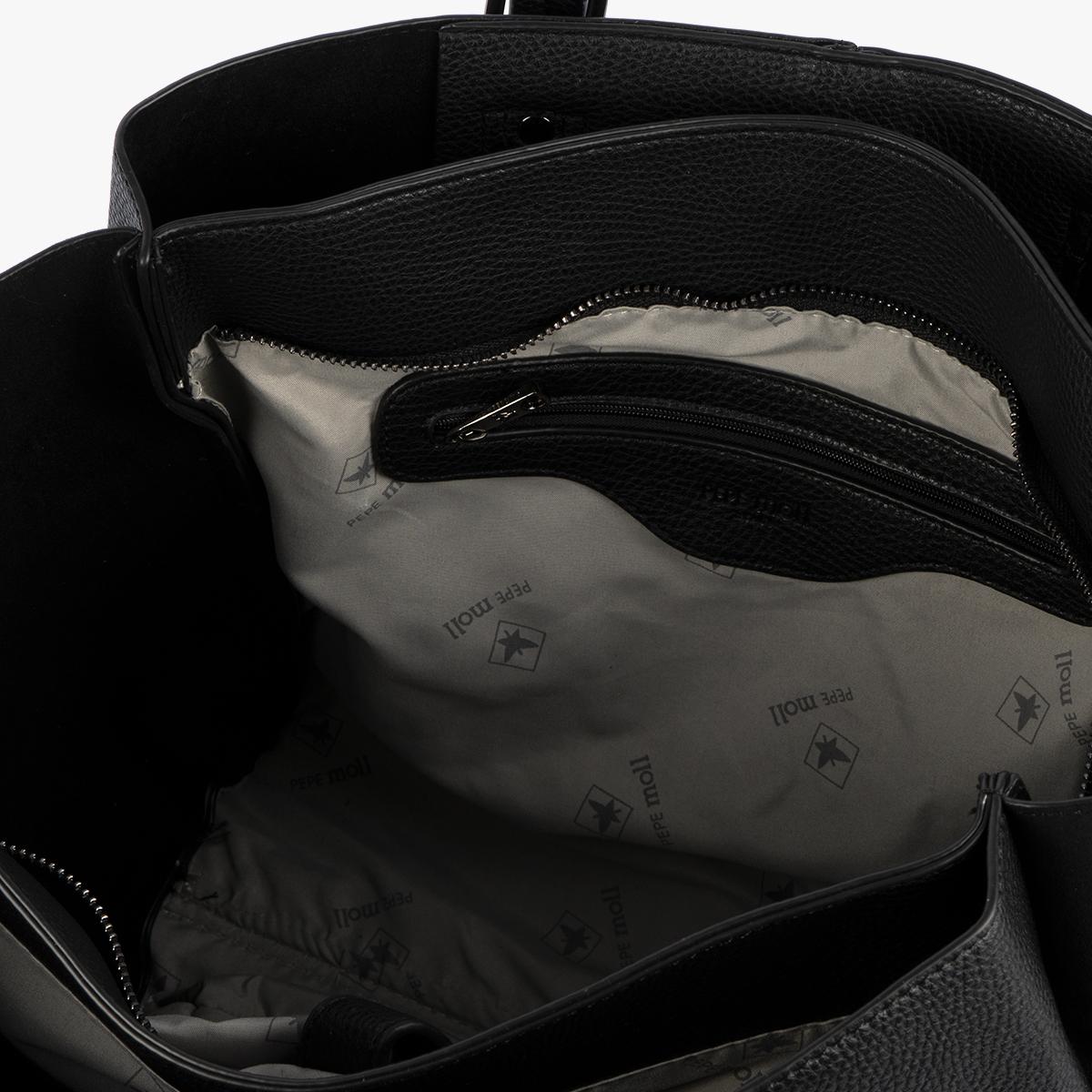 Bolso de hombro negro 33008